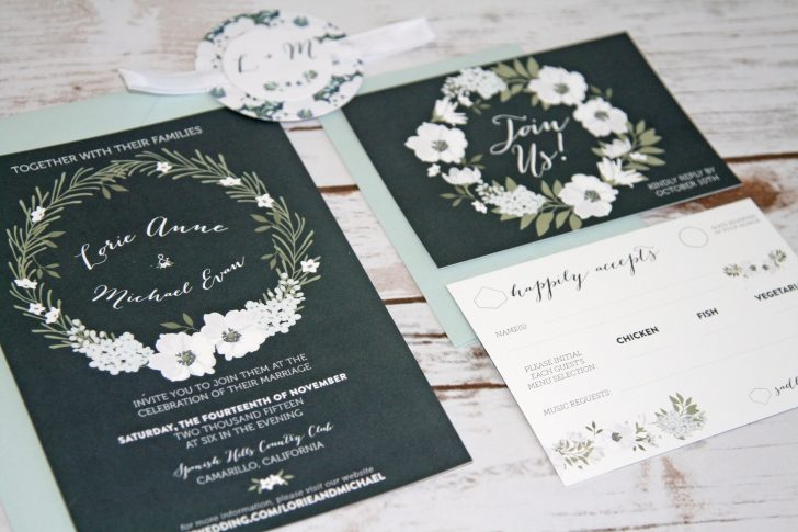 Printing Your Own Wedding Invitations: 32+ Amazing Photo Of Print At Home Wedding Invitations